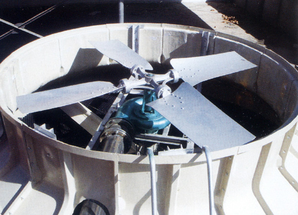 无动力水轮机冷却塔